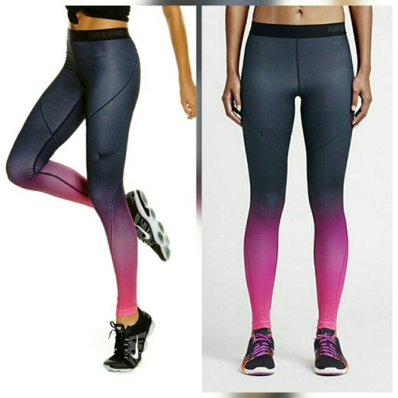 4b3253530ca72 Nike Pants | Pro Hyperwarm Pink Ombr Leggings | Poshmark